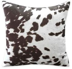 Fun and sophisticated cow print throw pillow is a perfect update. Bed Bath & Beyond Weston Animal Print Throw Pillow in Brown (Set of Brown Home Decor, Cow Hide, Cow Print, Classic Elegance, Print Design, Throw Pillows, Bath, Animals, Color