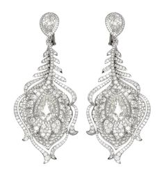 Chopard Red Carpet Collection diamond earrings in white gold