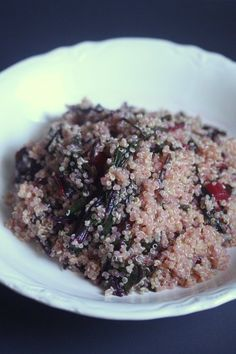Meatless Monday: Quinoa with Pink Greens
