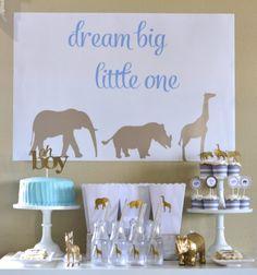 golden safari baby shower                                                       …