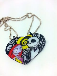 Nightmare Before Christmas Jack & Sally Couples Necklaces on Etsy, $25.00