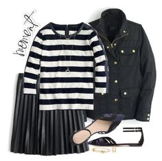 """Striped navy & black"" by villasba ❤ liked on Polyvore featuring Heidi Swapp, J.Crew, Madewell, women's clothing, women, female, woman, misses and juniors"