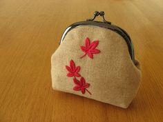 Japanese Maple Snap Frame Purse by barefootshepherdess, via Flickr