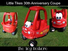 How to Identify Your Model of Little Tikes Cozy Coupe : Little Tikes Anniversary Cozy Coupe Lightning McQueen Makeover Little Tikes Makeover, Cozy Coupe Makeover, Backyard Toys, Lightning Mcqueen, 30th Anniversary, Disney Cars, Baby Toys, Kids Playing, Cute Kids