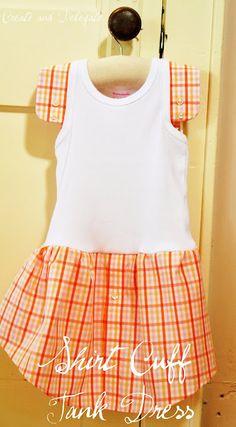 """Shirt Cuff Tank Dress"" ~ Tutorial  [by: Nicole  http://createanddelegate.blogspot.com/2010/05/tutorial-shirt-cuff-tank-dress-so-easy.html]  'h4d' 120810"