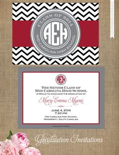 Monogrammed college graduation announcements can be customized for monogrammed college graduation announcements can be customized for any school graduation celebration pinterest college graduation monograms and filmwisefo