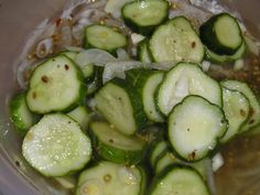 Recipe for salt-free pickles