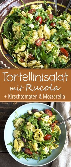 Tortellinisalat mit Rucola - Madame Cuisine Tortellini Salad with Arugula Salad Recipes Healthy Vegetarian, Side Salad Recipes, Salad Recipes For Dinner, Fruit Salad Recipes, Chicken Salad Recipes, Easy Healthy Recipes, Dinner Healthy, Smoothie Recipes, Clean Eating Salads