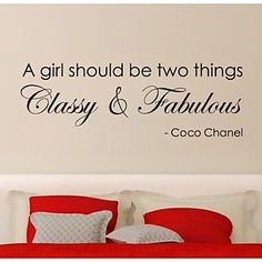 JiuBai™ Girl Inspiration Quote Wall Sticker Wall Decal – USD $ 20.99
