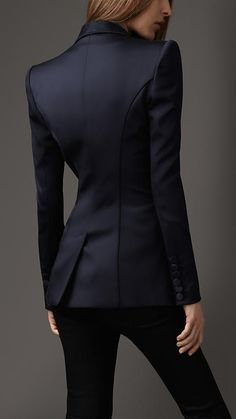 Burberry Fitted Tuxedo Jacket.