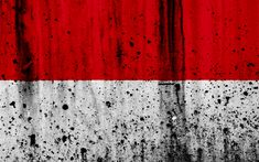 Download wallpapers Indonesian flag, 4k, grunge, flag of Indonesia, Oceania, Indonesia, national symbols, Indonesia national flag