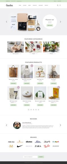 Goodies — shopping template. Available for sale on Creative Market.