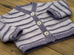 We Like Knitting: Contiguous Baby Cardigan with Peplum - Free Patter.