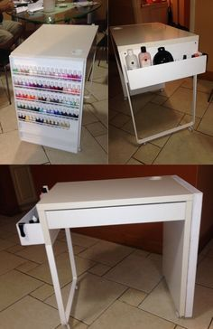 The Desk Is Small But I Love The Clean Look Gotta Love Nails Pinterest Nail Station