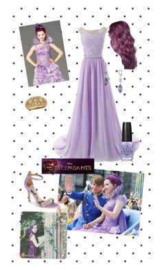 """Mal, Disney's Descendants Coronation Look"" by mahoney-lauren ❤ liked on Polyvore"
