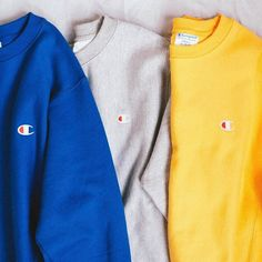 Champion color hoodies love the yellow