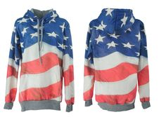 Shop Flag Print Hooded Sweat Hoodie at ROMWE, discover more fashion styles online. Romwe, Hoods, Street Art, Graphic Tees, Flag, Sweatshirts, Jackets, Closet, Shopping