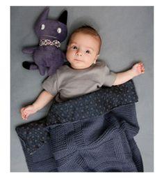 Modèle couverture bébé grise