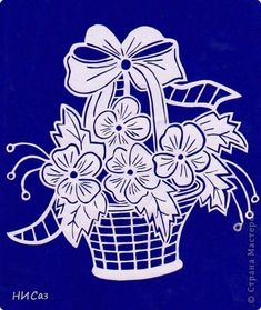 Kirigami, One Stroke Painting, Stencil Painting, Cut Out Canvas, Cut Out Art, Paper Cut Design, Flower Quilts, Paper Lace, Flower Coloring Pages