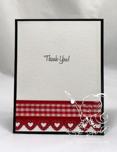 Simple but elegant thank you card.