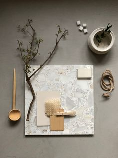 Stone Tile Flooring, Stone Tiles, Terrazzo, Material Board, Interiordesign, Color Shapes, Mood Boards, Pink, Moon