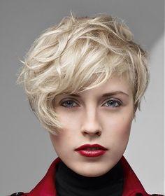 short blonde straight coloured messy white PLATINUM-BLONDE hairstyles for women