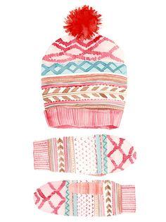 Pink Hat Set