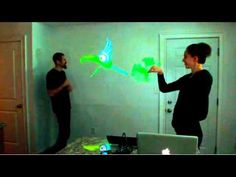 Interactive Puppet Prototype with hacked Kinect - YouTube