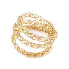 Ring gedreht. Spirale 14 Karat Gold Draht gehäkelt von YoolaDesign auf DaWanda.com