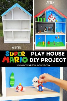 Fun Crafts For Kids, Diy Home Crafts, Diy For Kids, Doll House For Boys, Toys For Boys, Mario Crafts, Nintendo Party, Lego Super Mario, Mario Birthday Party
