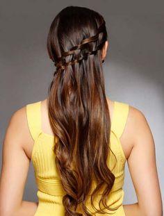 Waterfall Braid Hair Style