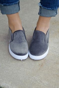 Step into style with these super cute slip-on platform sneaks! They have a soft faux suede feel & make the perfect grab 'em & go shoe! Sock Shoes, Cute Shoes, Me Too Shoes, Slip On Sneakers, Slip On Shoes, Beautiful Sandals, Everyday Shoes, New Shoes, Just In Case