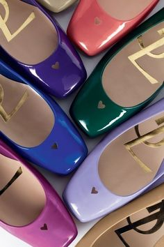 colorful YSL flats