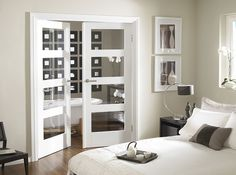 white shaker 5 panel interior door glass - Google Search