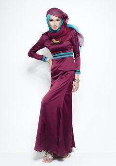 MIRZA MAROON DRESS  <3 hijab style