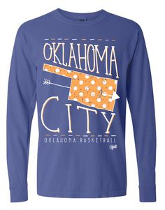 OKC Polka Dot Long Sleeve- Thunder