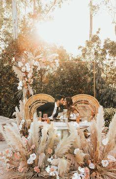 Boho Wedding, Floral Wedding, Wedding Flowers, Dream Wedding, Field Wedding, San Diego Wedding Venues, Wedding Aisle Decorations, Ceremony Backdrop, Pampas Grass