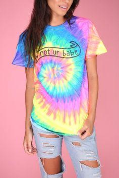 bd1af352 Not Ur Babe Banner Neon Tie-Dye Graphic Unisex Tee