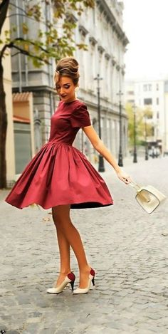 Vestidos de color Rojo 13