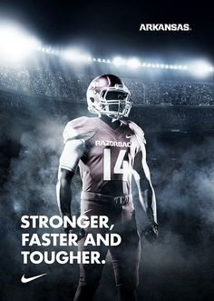 Nike Arkansas Football Team by Cauê Andrade, via Behance