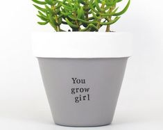 Modern, personalized, eco-friendly plant pots & gifts by ChickadeePots Thank You Teacher Gifts, Teacher Christmas Gifts, Teacher Appreciation Gifts, Gifts For Family, Gifts For Friends, Congratulations Gift, Moving Gifts, Succulent Gifts, Bridesmaid Proposal Gifts