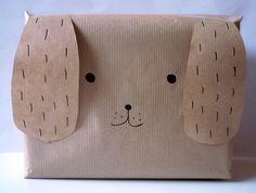Emballage cadeau chien !