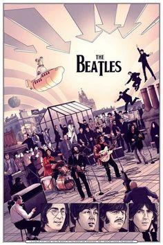 The Beatles 1, Beatles Poster, Beatles Art, Beatles Photos, Beatles Guitar, Rock Posters, Band Posters, Concert Posters, The Quarrymen