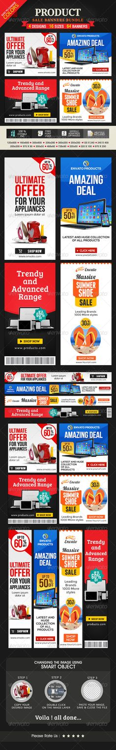 Product Sale Banners - 4 Set Bundle Template PSD | Buy and Download: http://graphicriver.net/item/product-sale-banners-4-set-bundle/8058699?WT.ac=category_thumb&WT.z_author=doto&ref=ksioks