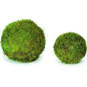 Green Decorative Balls Bumpy Moss Balls 5In  Greenery Room And Porch Plants