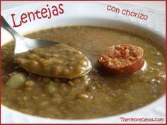 Potage de Lentejas con Chorizo Thermomix