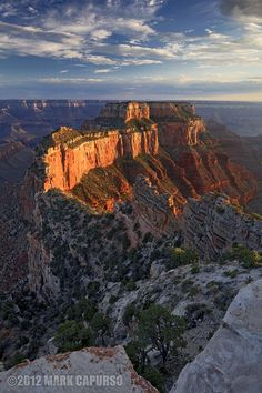 The Glowing Throne by Mark Capurso, via Wotan's Throne, Grand Canyon National Park Grand Canyon National Park, National Parks, Places To Travel, Places To See, Places Around The World, Around The Worlds, Beautiful World, Beautiful Places, Arizona