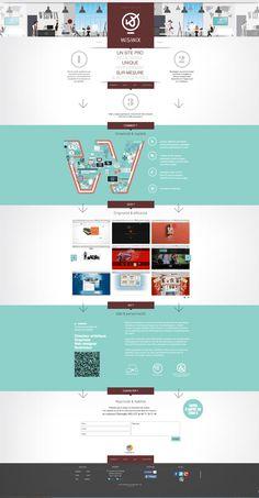 Flat wisiwix.com Web design