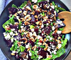 Beet and Feta Salad with Balsamic vinegar is packed with flavor and works so good aside any holiday meal. Beet and Feta Salad