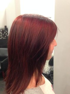Gorgeous red hair! Redken color.
